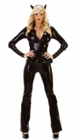 Black Leather Gloves Cat Costume