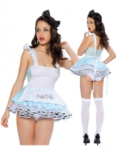 Sky Blue Look Out Alice Lingerie Costume