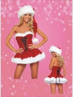 Lace Up Holiday Christmas Costume