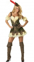 Brown Deluxe Racy Robin Hood Pirate Costume