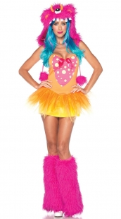 Pink Gold Shaggy Shelly Monster Costume