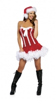 Sweet Candy Santa Christmas Costume