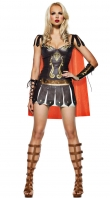Dark Coffe Warrior Princess Costume