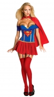 DarkBlue And Blue Supergirl Corset Costume