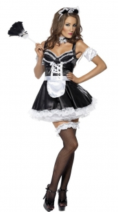 Burlesque Fever Flirty French Maid Costume