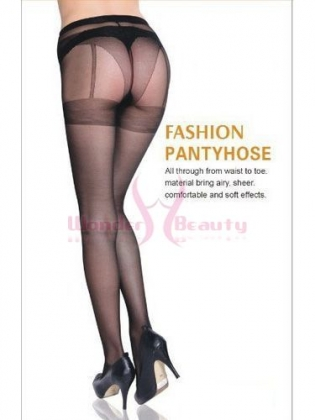Black Sexy Back Seam Pantyhose