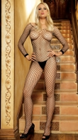 Black Large Net Body Stocking