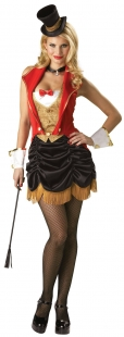 Red Gold Black Three Ring Hottie Circus Costume