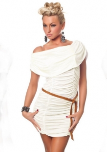 White Lotus Leaf Shoulder Clubwear