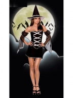 Black Reversible Sexy Witch Halloween Costume