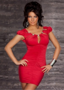 Sexy Red Temptation Beaded Collar Clubwear