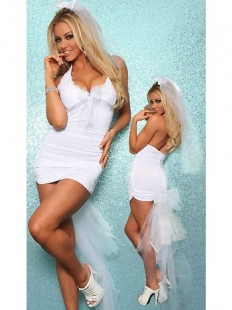 Charming White Bride Costume