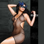Black Industrial Mesh Body Stocking