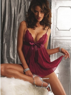 Claret Gets Grown-Up Glamour In Georgette Babydoll