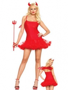 Red Lovely Small Devil Halloween Costume