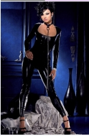 Black Revealing Temptation Fashion Catsuit With Iron Chain