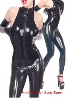 Black Show Off Your Moves Flirty Catsuit With Gloves
