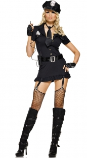 Black Sexy-Dirty-Cop-Costume