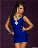 Blue Sleeve Character Mini Skirt