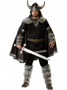 Black And Brown Viking Warrior Elite Costume
