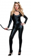 Sexy Black Leather Cat Costume
