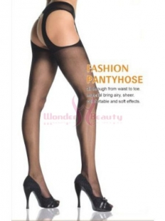 Sheer Cut Out Suspender Tights