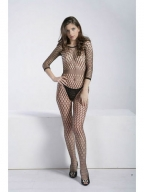 Long Sleeve Ring Net Bodystocking