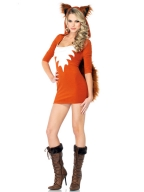 Jaffa Orange White Pattern Fox Costume