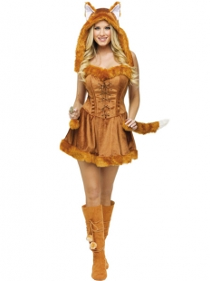 Golden Yellow Cat Corset And Dress