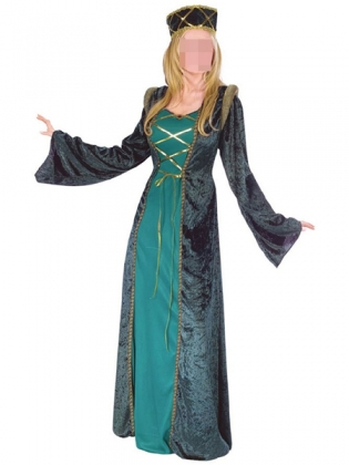 Green Lacing Two Piece Special Costume