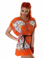 Elegant And Classic Colorful Dress Orange