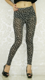 Black Leopard Grain Fashion Leggings