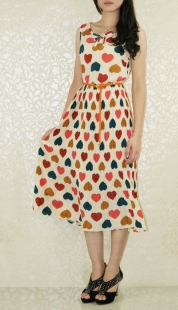 Lovely Colourful Heart Long Dress