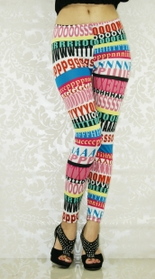 Color Letters Fashion Shaping Leggings