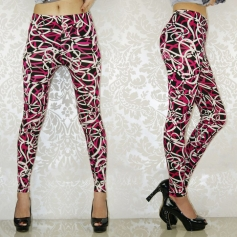Rose Irregular Figure Leggings