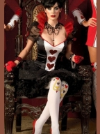 Noble Poker Queen Black And White Costume