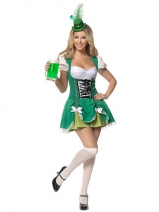 Green Deluxe Lace-up Beauty Costume