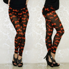 Lovely Red Butterfly Seamless Leggings