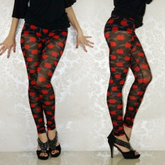 Delicacy Red Apple Seamless Leggings