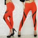 Orange Curvaceous Shaping Leggings
