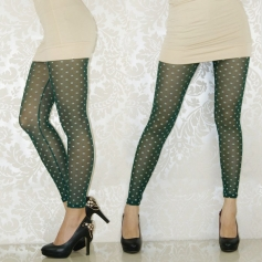 Dark Green CHANEL Figure Breathable Leggings