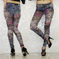 Lavender Alphabet Fashion Slimming Leggings
