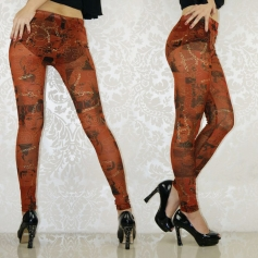 Coffee Shear Paint Perspective Leggings