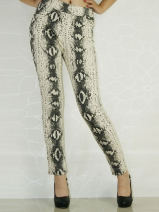 Ink And Wash Printed Winter Leggings
