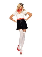 Flirty Red Belt Sailor Womens Costume