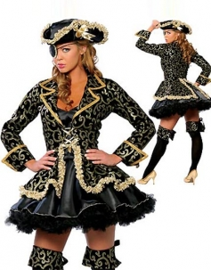 Elegant Pirate Lady Costume