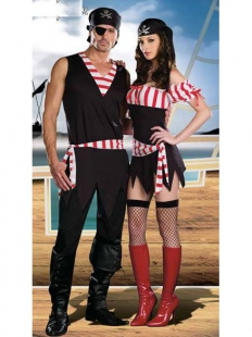 Playful Stripe Gear Pirate Costume