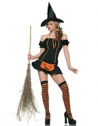 Endearing Pumpkin Witch Costume