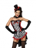 Stripe Vamp Womens Costume
