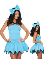 Solid Blue Gear Hem Costume